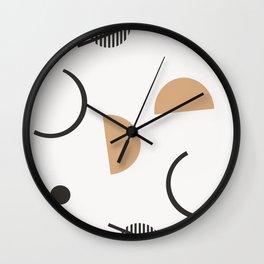Chara - minimalist art print, abstract art, earth tones, neutral art print, geometric art print, Wall Clock