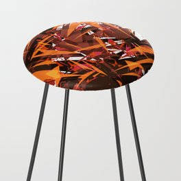 red & spiky Counter Stool