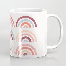 Stamped Rainbows - Maroon Coffee Mug