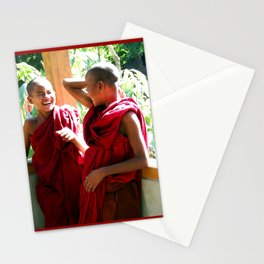 Laughter at th Monastey, Myanmar Stationery Cards