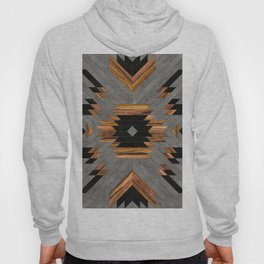 Urban Tribal Pattern No.6 - Aztec - Concrete and Wood Hoody