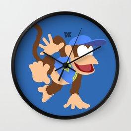 DIDDY KONG(SMASH)BLUE Wall Clock