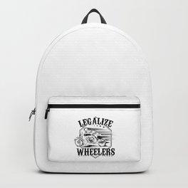 Motorcycle Motorbike Gift Idea Legalize Wheelers  Backpack