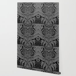 Rubino Zen Owl Black Wallpaper