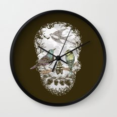 Nature's Skull II Wall Clock