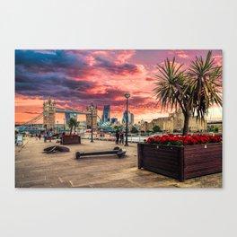 London River Side Canvas Print