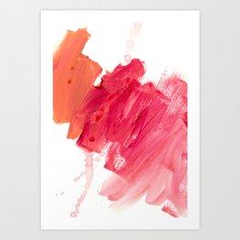 brush strokes 11 Art Print