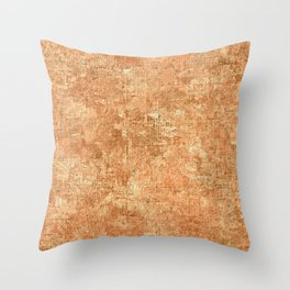 Peach Cobbler Oil Painting Color Accent Throw Pillow