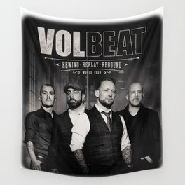 VOLBEAT - REWIND REPLAY REBOUND WORLD TOUR Wall Tapestry