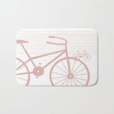 Pink Bike by Friztin Bath Mat