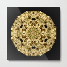 Buttons Brass Metal Print