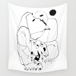 Purification of the Soul - b&w Wall Tapestry