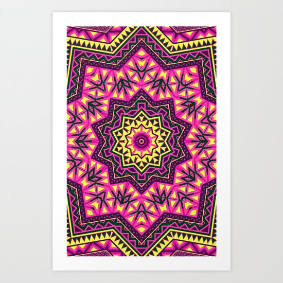 Indian Drugs Pattern 2 Art Print