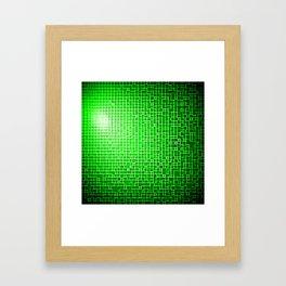 Green Pixels Framed Art Print