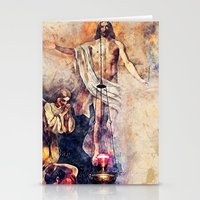 christ Stationery Cards featuring  Jesus Christ by jbjart