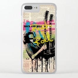 JIMMY PAGE #2 on dictionary page Clear iPhone Case
