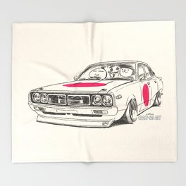 Crazy Car Art 0166 Throw Blanket