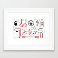 crossfit Framed Art Prints featuring CrossFit Love by Golden Heart
