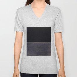 Untitled (Black on Grey) by Mark Rothko Unisex V-Neck
