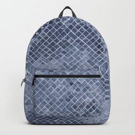 Geometric chic modern blue silver  glitter gradient Backpack