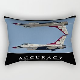 Accuracy: Inspirational Quote and Motivational Poster Rectangular Pillow