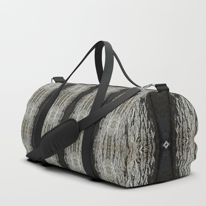 Oak Tree Bark Vertical Pattern by Debra Cortese Designs Duffle Bag
