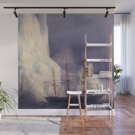 Icebergs Landscape Masterpiece by Ivan Aivazovsky Wall Mural