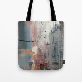 S'il Vous Plait: an abstract mixed-media piece in blue, gray, and gold by Alyssa Hamilton Art Tote Bag
