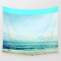 returns Wall Tapestries featuring sea sheila beach by EnglishRose23