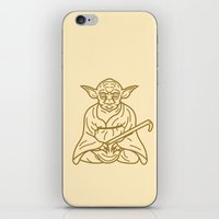 yoda iPhone & iPod Skins featuring Yoda by Roland Banrevi