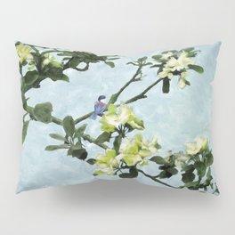 Chickadee in Apple Blossoms Pillow Sham
