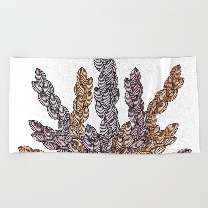 Leaf 13 Beach Towel