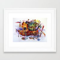 france Framed Art Prints featuring France by oxana zaika