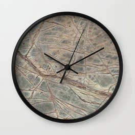 Brown Marble I Wall Clock