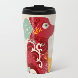 Oriental red dog. Chinese design. Year of the dog Travel Mug