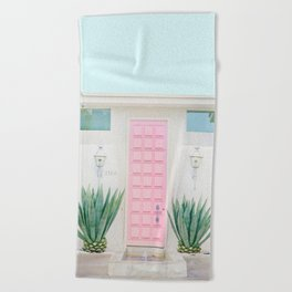 The Pink Door, Palm Springs, California Beach Towel