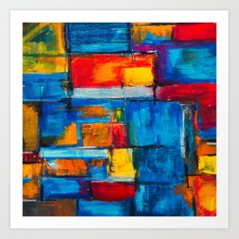 painting abstract Art Print