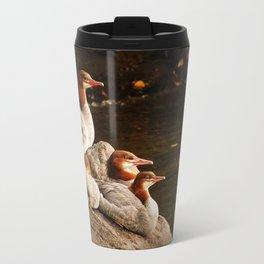 Common Merganser Family Travel Mug