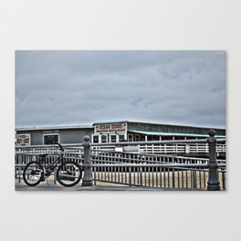 Bike On The Boardwalk Canvas Print