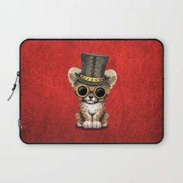 Steampunk Baby Cheetah Cub Laptop Sleeve