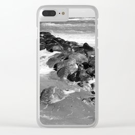 Breakwater on the Baltic Sea Clear iPhone Case