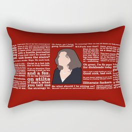 The Thick of It - Nicola Murray Rectangular Pillow