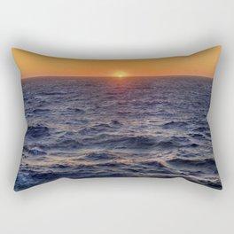 High Sea Windy Storm At Sunset Rectangular Pillow