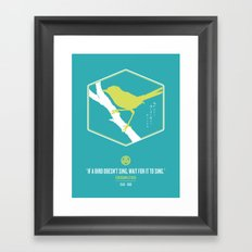 If A Bird Doesn't Sing Series 3 of 3 Framed Art Print
