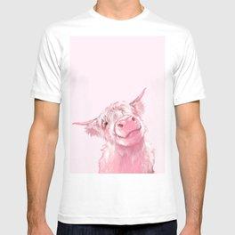 Highland Cow Pink T-Shirt