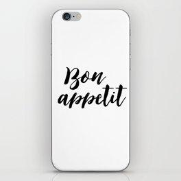 Bon appetit sign, Dining room decor, Typographic Print, Kitchen art, Bon Appetite, Wall Art, Home De iPhone Skin
