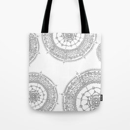 Delighting on White Background Tote Bag