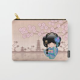Japanese Keiko Kokeshi Doll Carry-All Pouch