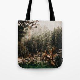 LAC VERDE /// Mountain Lake Tote Bag