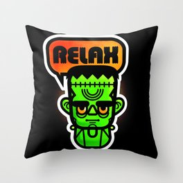 Frankie Says Relax Throw Pillow
